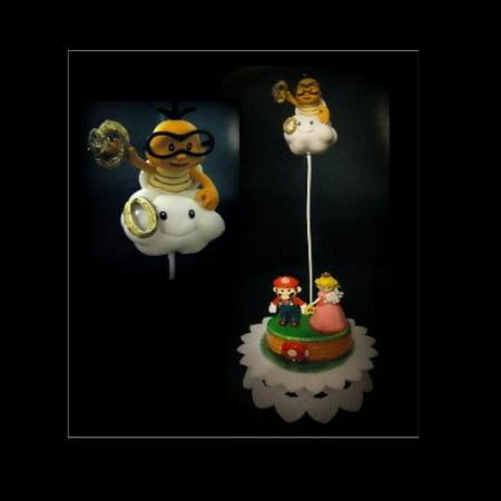 Nintendo Super MARIO Princess Peach RING TOSS WEDDING CAKE TOPPER ...
