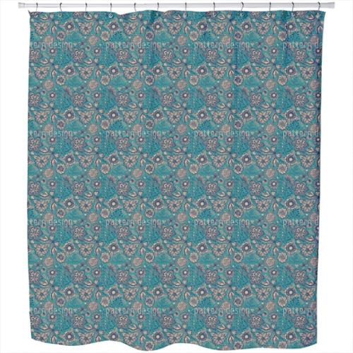 Winter Garden in Moscow Shower Curtain Extra Long (70 inches X 90 inches)
