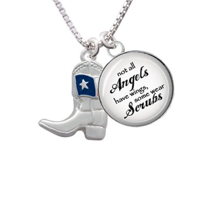 f48dd788bae Delight Jewelry - Cowboy Boot with Texas Flag Angels Wear Scrubs ...