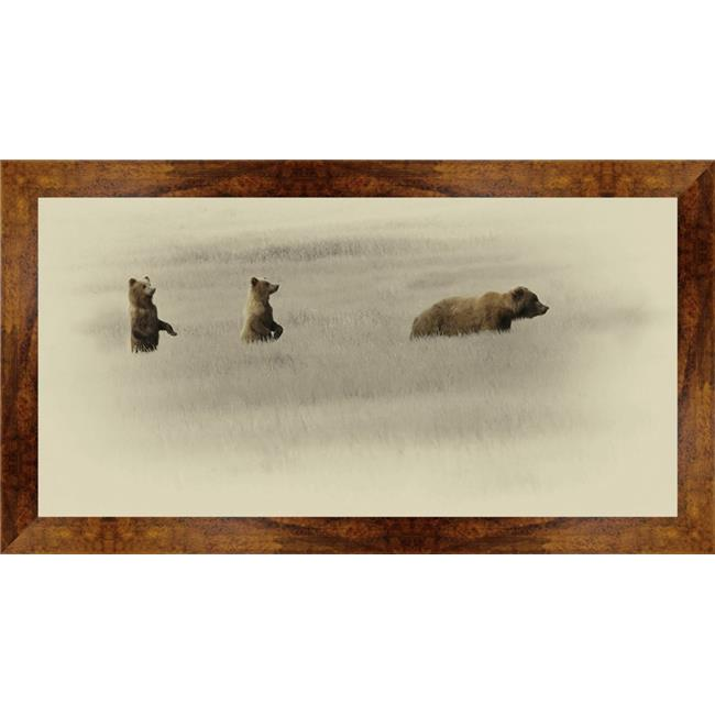 Somerset House Publishing 7351 19.25 x 35.25 in. Bear Family, Framed Giclee Canvas Art - Brown - image 1 of 1