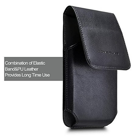 info for 02a72 ba518 iPhone 6 6s 7 Belt Clip Case, Premium Vertical Leather Belt Clip Pouch  Holster Case For Apple iPhone 6 6S 7 (Fits with otterbox case / Battery  Case / ...