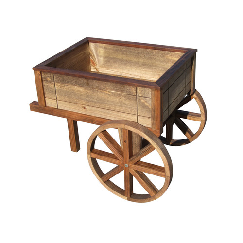 Sams Gazebos Wood Wheelbarrow Planter