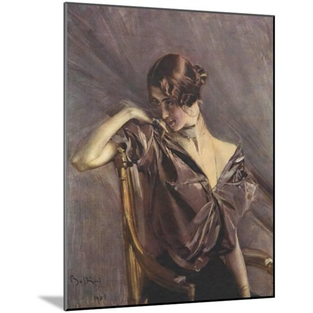 Cleo de Merode, Ilz, 1901 Wood Mounted Print Wall Art By Giovanni Boldini