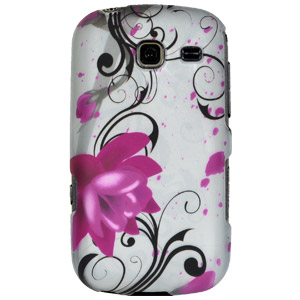 Samsung Case, Rubberized Protector Back Case Slim Designed Snap On Cover for Samsung Comment SCH-R380, Samsung Freeform III SCH-R380 - Pink Lotus