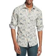 Tallia NEW Gray Taupe Mens Size 4XL Button Down Floral Print Shirt