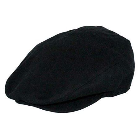 - Men's Premium Wool Blend Classic Flat Ivy Newsboy Collection Hat (1581-Black,M )