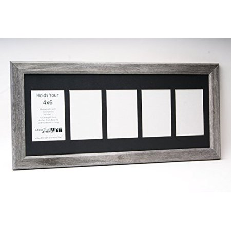 Creative Letter Art 5 Opening Driftwood Picture Frame With Glass And
