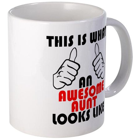 CafePress - What An Awesome Aunt Looks Like Mugs - Unique Coffee Mug, Coffee Cup (Best Aunt Martha's Aunt Cups)