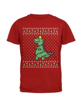 big tree rex t rex ugly christmas sweater mens soft t shirt - Christmas Sweaters Walmart