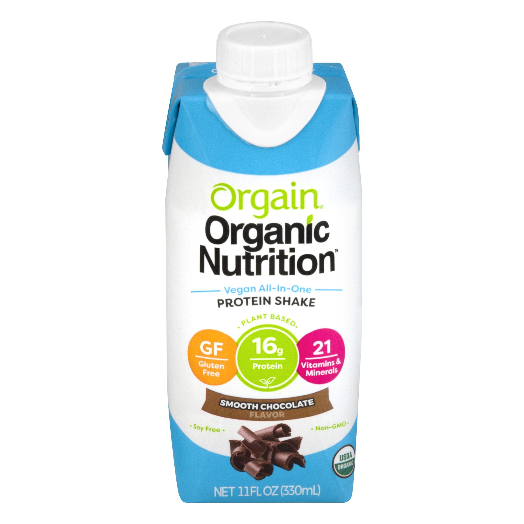 Orgain Organic Nutrition Protein Shake Smooth Chocolate, 11.0 FL OZ