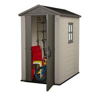 Keter Factor Large 4 x 6 ft. Resin Outdoor Backyard Garden Storage Shed (Beige)