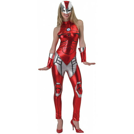 Superhero Jumpsuit Adult Costume Rescue (Iron Woman) - Medium