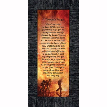 A Fireman's Prayer, Fireman Gifts and Decor, In Appreciation of Firefighter, 6x12 7361