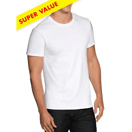 04471284 Men's Extreme Value FreshIQ ComfortBlend 12 Pack White Tagless Crew ...