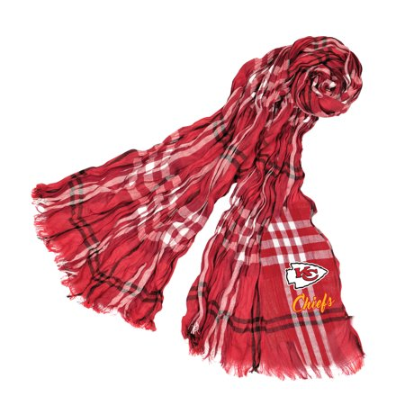 Little Earth - NFL Crinkle Plaid Scarf, Kansas City Chiefs