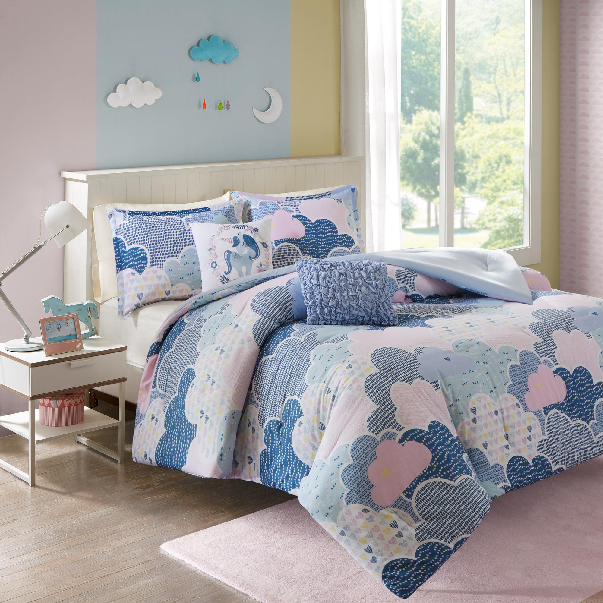 Home Essence Kids Euphoria Cloud Printed Cotton Comforter Bedding Set