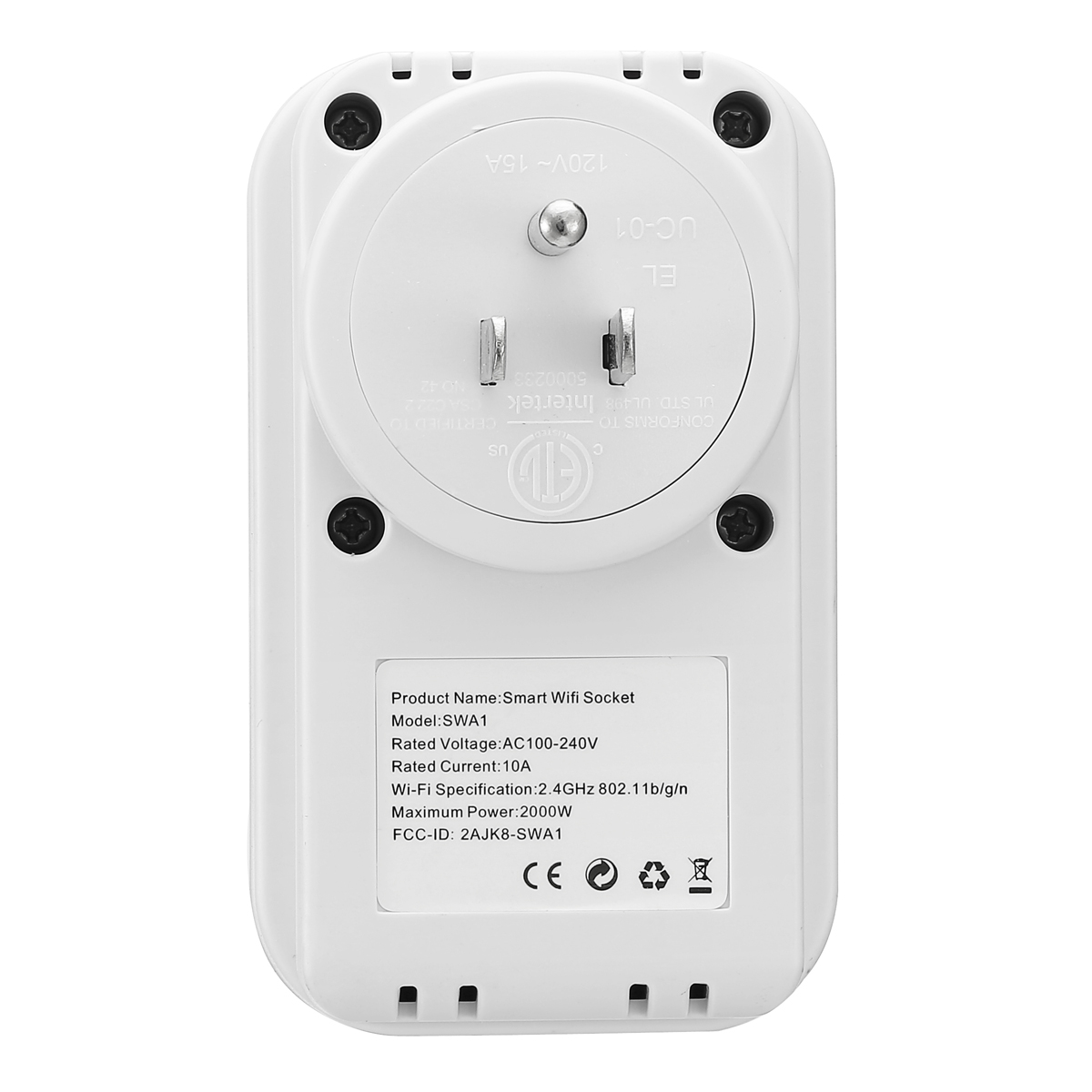 ELEGIANT Smart Wi-Fi Socket Plug Smart Wifi Plug Outlet Wireless Switch  Outlet Timing Function No Hub Required Control Your Appliances from  Anywhere