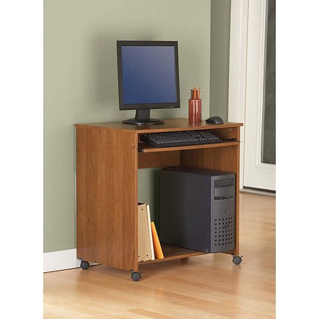 Mainstays wood computer cart multiple finishes - Computer cart walmart ...