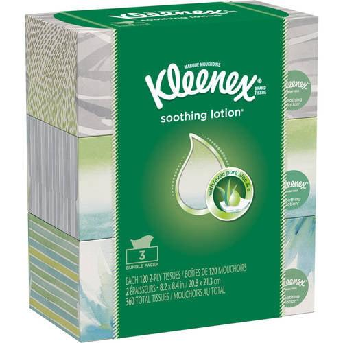 Kleenex Lotion 3 Pk 120ct