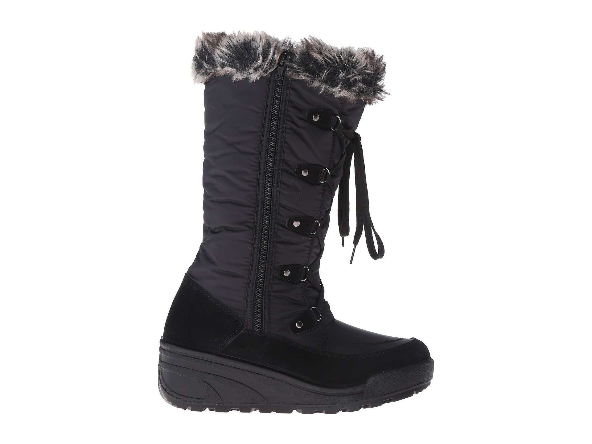 Spring Step Zip NORTHRIDGE Womens Black Warm Winter Zip Step Up Snow Boots 7a4df1