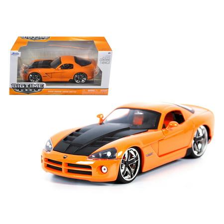 2008 Dodge Viper SRT10 Orange 1/24 Diecast Car Model by Jada