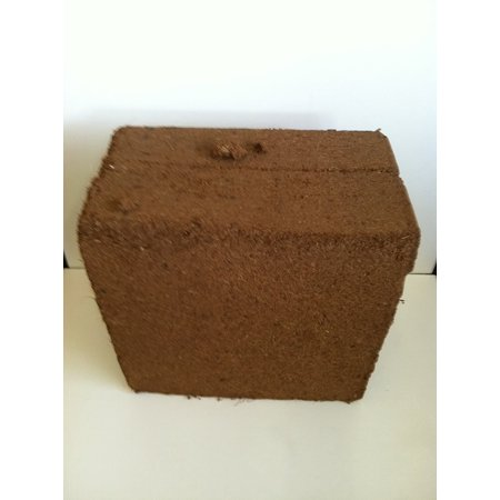 The Dirty Gardener Coconut Coir Fiber Bale, 9 Pounds (Coconut Husk Brick)