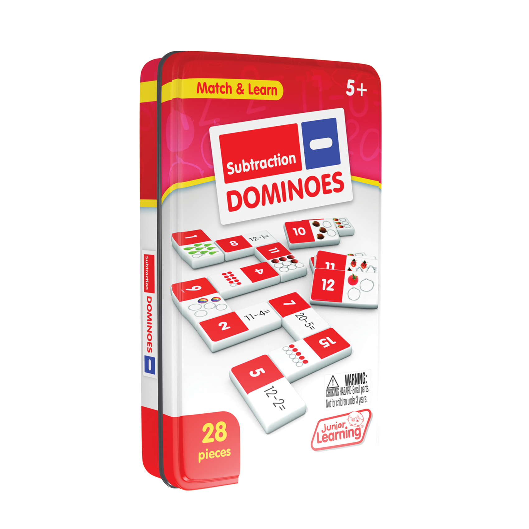 Junior Learning - Subtraction Dominoes Match & Learn Educational Learning Game