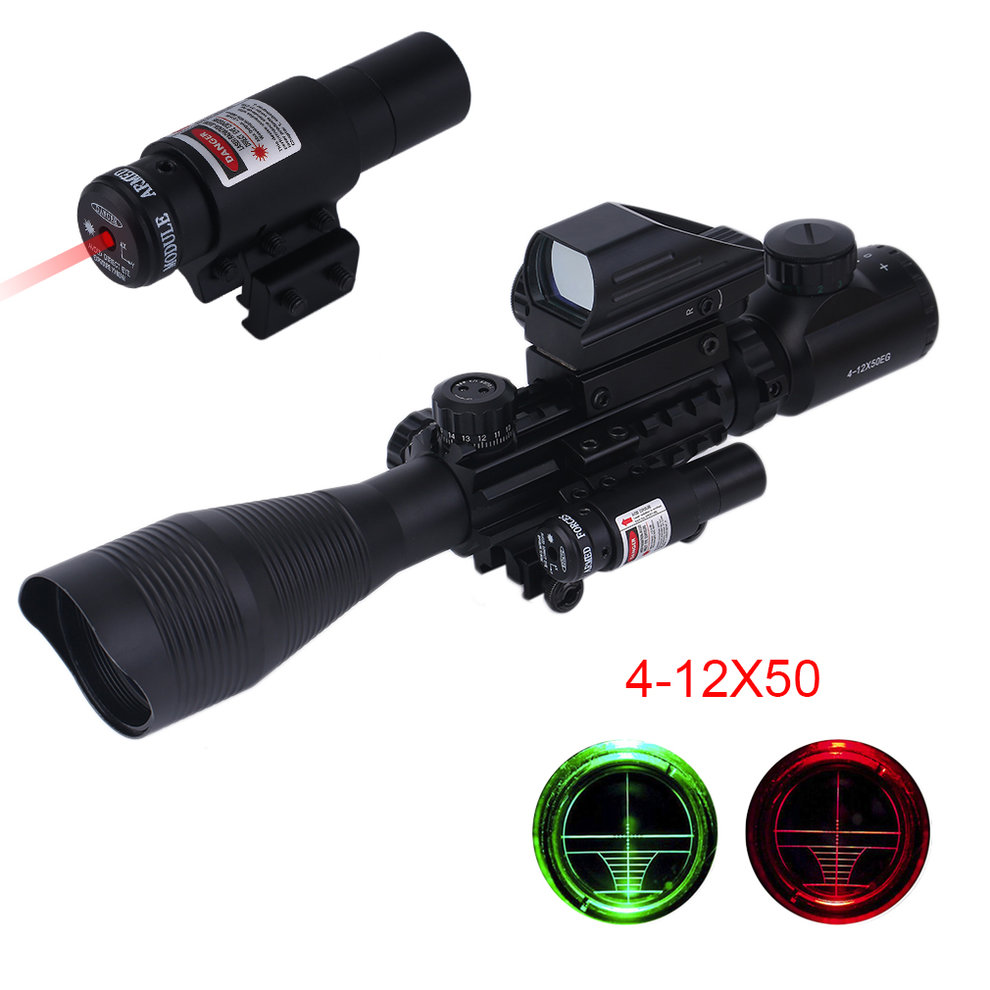 4-12X50 EG Tactical Gun Scope with Holographic 4 Reticle ...