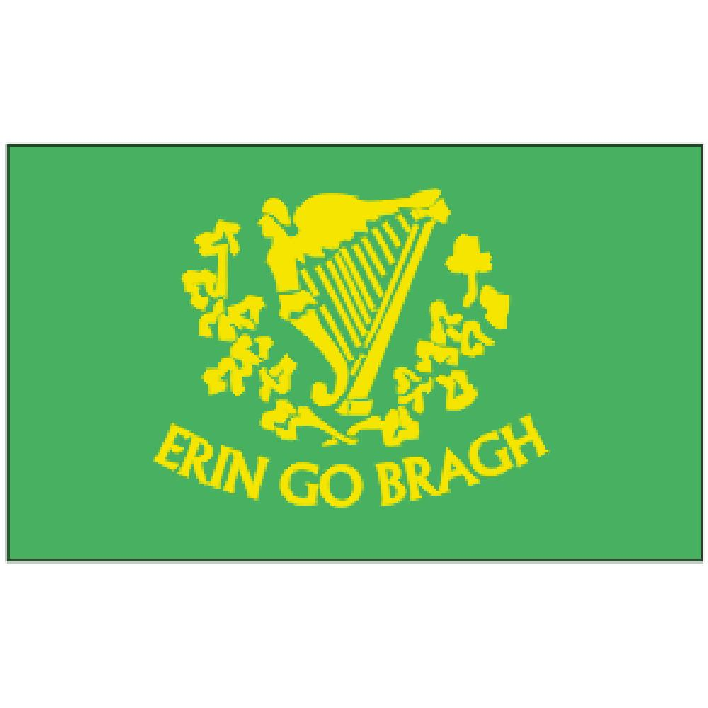 Erin Go Brah Irish Flag with Grommets 3ft x 5ft