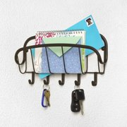 Spectrum Diversified Ashley Wall Mount Letter Holder & Key Rack