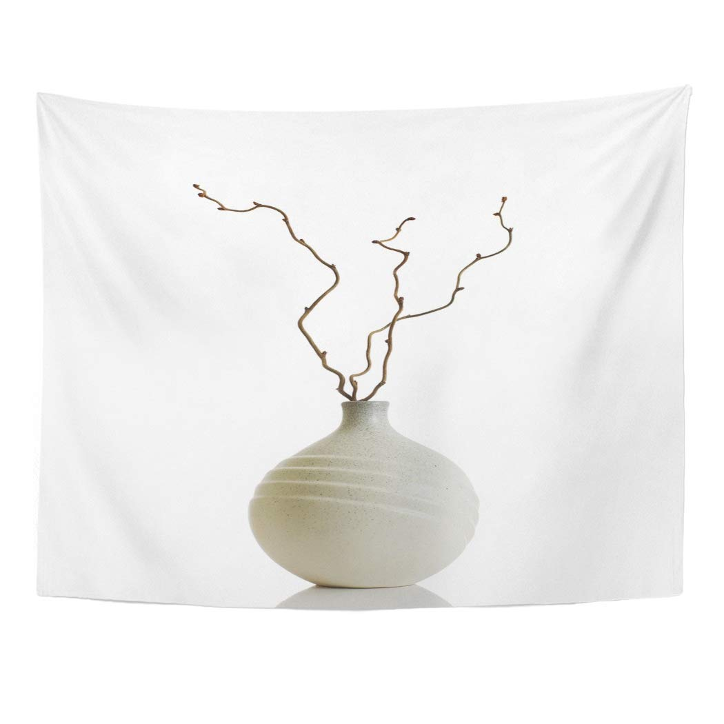 Zealgned White Vase And Dry Hazel Branches Object Interior Pottery Home Ceramic Wall Art Hanging Tapestry Home Decor For Living Room Bedroom Dorm 60x80 Inch Walmart Com Walmart Com