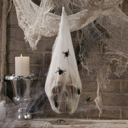 Team H Halloween Party (LED Skull in Spider Cocoon - Halloween Party Supplies & Decorations & Home)
