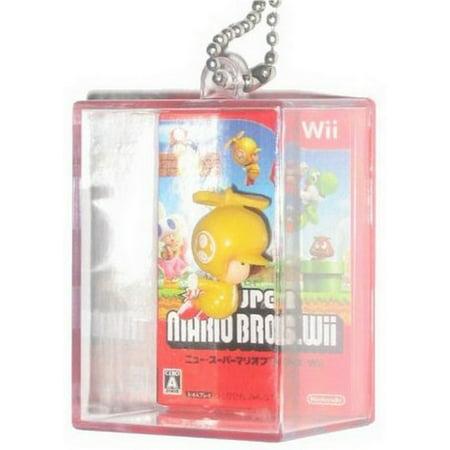 Nintendo Super Mario Bros. Figure In Box Yellow Toad Keychain - Toad Mario Hat
