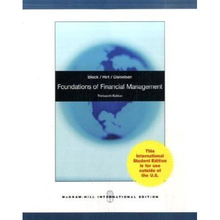 Foundations Of Financial Management By Stanley B Block