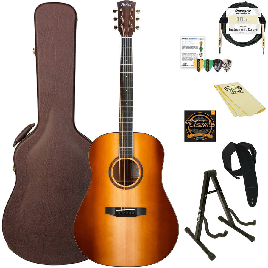 Bedell Guitars 1964 Series Dreadnought Acoustic-Electric Guitar with ChromaCast Accessories, Heirloom Gloss Finish