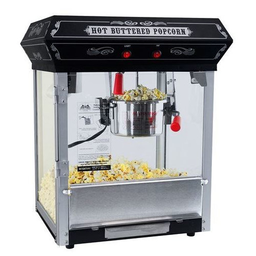 Funtime 4 oz Theater Style Hot Oil Popcorn Maker Machine, Black