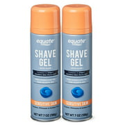 Equate Sensitive Skin Shave Gel with Aloe, 7 oz, 2 Count