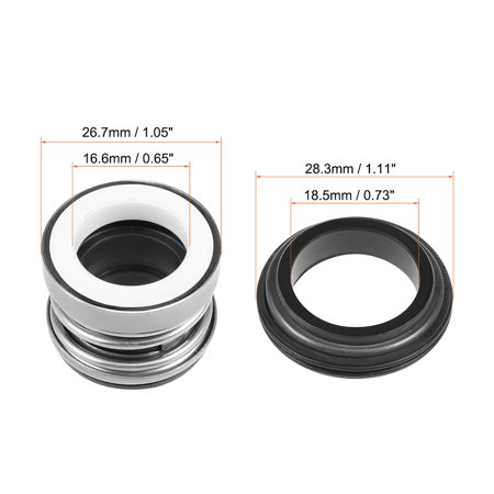 Mechanical Shaft Seal Replacement for Pool Spa Pump 2pcs 104-16 - image 2 of 4