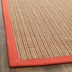 Safavieh Natural Fiber Rectangular Area Rug Green