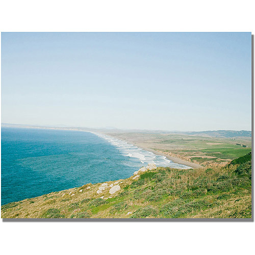 "Trademark Fine Art ""Coast Line"" Canvas Wall Art by Ariane Moshayedi"