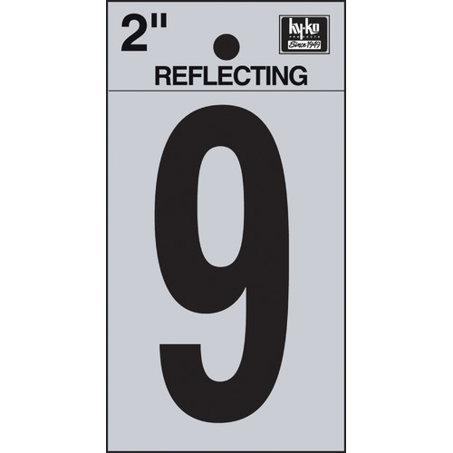 Hy-Ko 2'' Self Stick Reflective Letter Number (Set of 10)