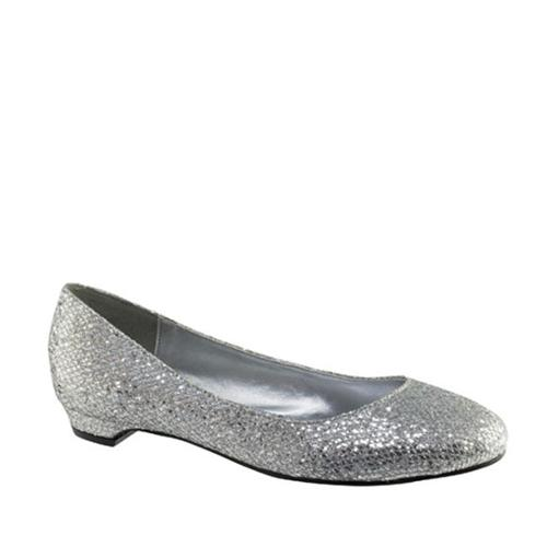 Touch Ups 415WO Tamara Silver Synthetic Womens Flats Shoes
