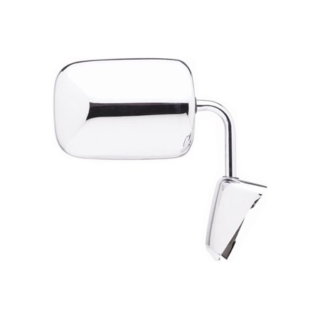 Replacement Right Chrome Manual Mirror For Dodge D250 D100