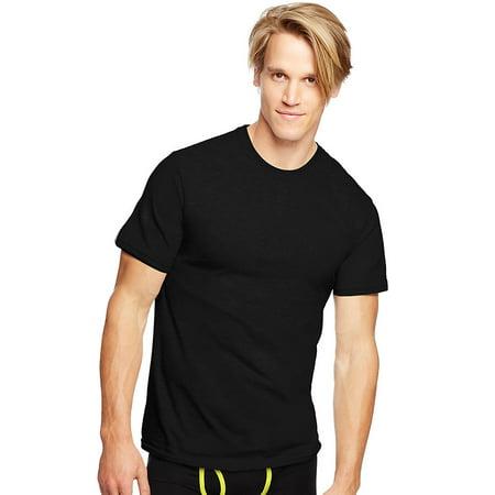 Hanes Classics Men's Traditional Fit ComfortSoft® TAGLESS® Dyed Black Crewneck Undershirt 3-Pack - 7873B3