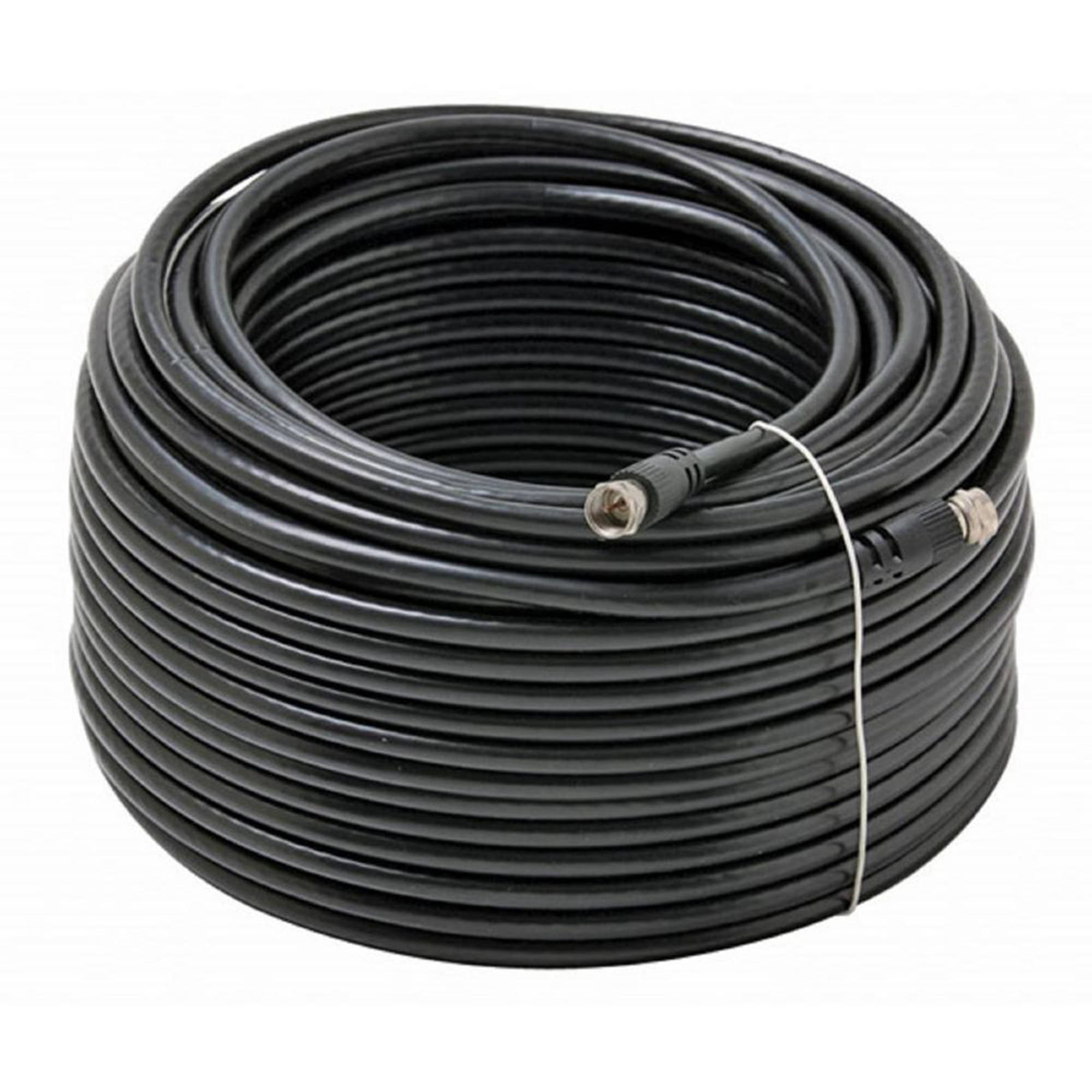 Digiwave RG6 500' Coaxial Cable, Black, RG611500B