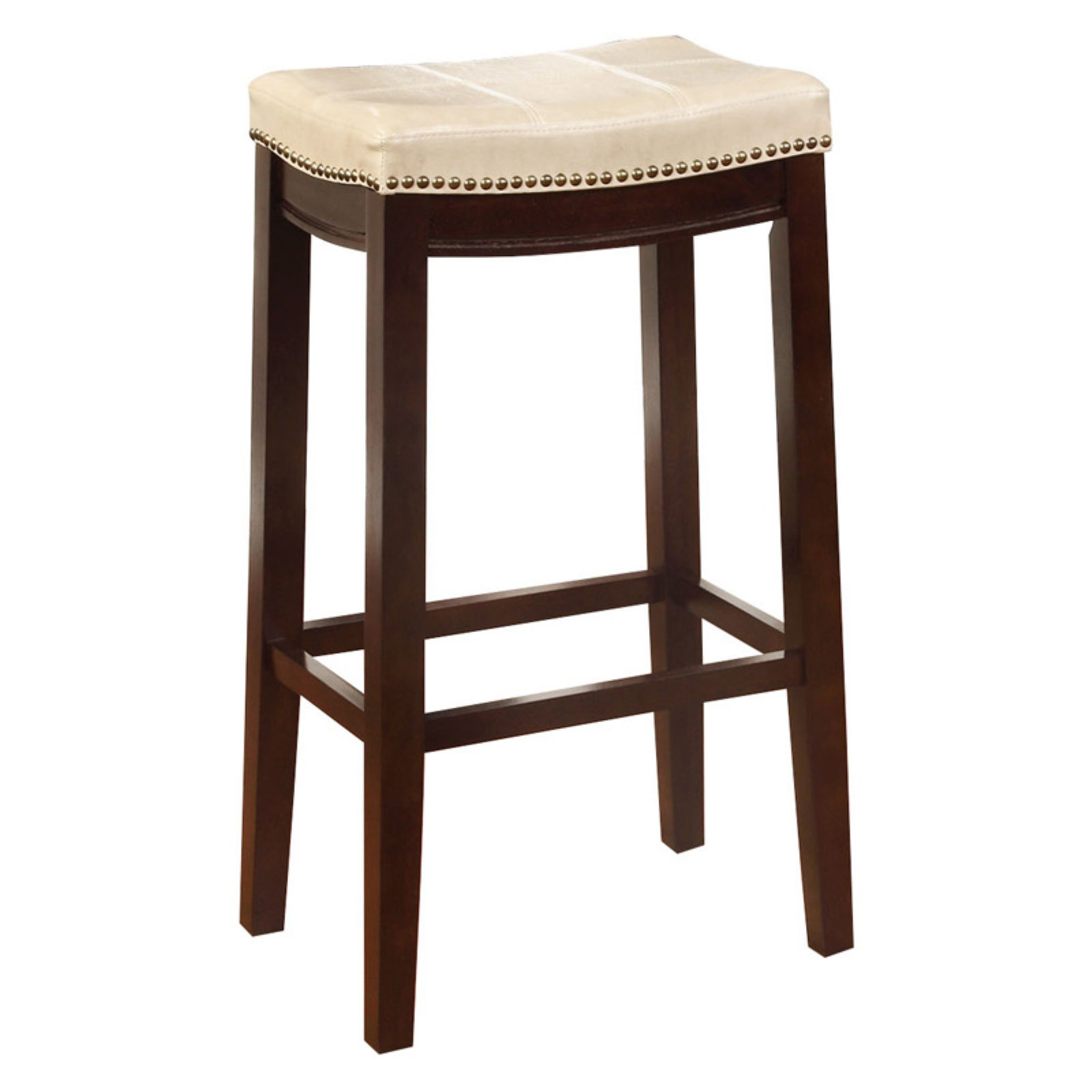 Beige Bar Stool High Chair Seat Claridge Patches 32 Inches Height Cafe Home New
