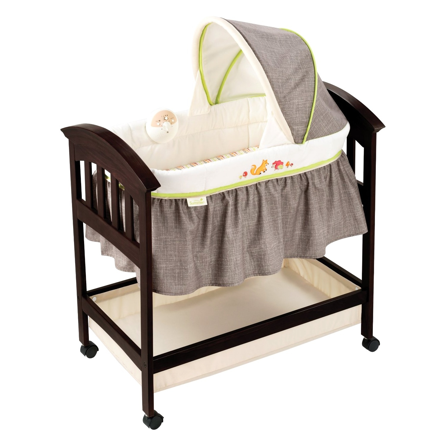 Summer Infant Classic Comfort Wood Bassinet, Fox and Friends