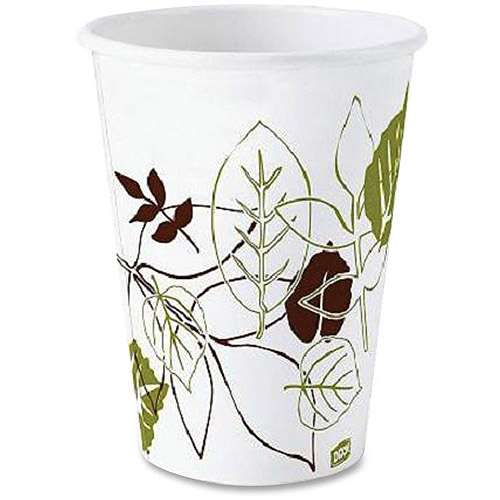 Dixie Pathways Polylined Hot Paper Cups, 8 oz, 1000 count