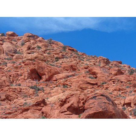 Canvas Print Rocks Red Rocks Climbing Calico Basin Mountain Stretched Canvas 10 x -