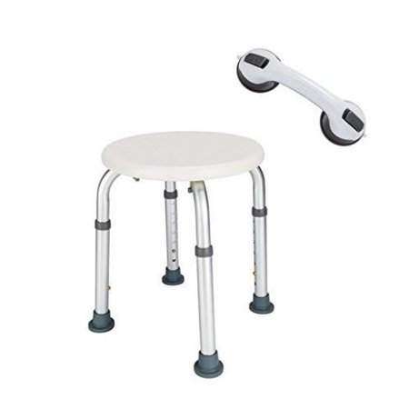 Ktaxon 7 Height Adjustable Bath Chair Medical Shower Chair Bathtub Round Stool & Sucker - Plastic Shower Stools